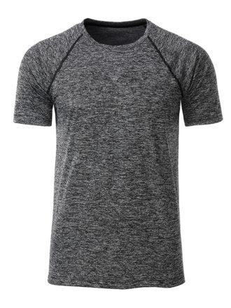 Mens Sport T Shirt James & Nicholson - black melange black