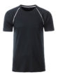 Mens Sport T Shirt James & Nicholson - black white