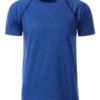 Mens Sport T Shirt James & Nicholson - blue melange navy