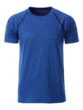 Mens Sport T Shirt James & Nicholson - blue melange navy