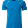 Mens Sport T Shirt James & Nicholson - bright blue bright yellow