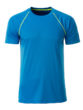 Mens Sport T Shirt James & Nicholson - bright blue bright yellow