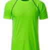 Mens Sport T Shirt James & Nicholson - bright green black