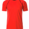 Mens Sport T Shirt James & Nicholson - bright orange black