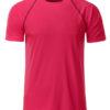 Mens Sport T Shirt James & Nicholson - bright pink titan