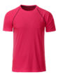 Mens Sport T Shirt James & Nicholson - bright pink titan