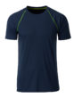 Mens Sport T Shirt James & Nicholson - navy brigt yellow