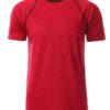 Mens Sport T Shirt James & Nicholson - red melange titan