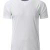 Mens Sport T Shirt James & Nicholson - white bright green