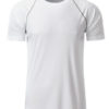 Mens Sport T Shirt James & Nicholson - white silver