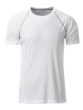 Mens Sport T Shirt James & Nicholson - white silver