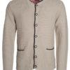 Mens Traditional Knitted Jacket James & Nicholson - beige anthracite melange red