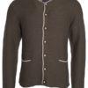 Mens Traditional Knitted Jacket James & Nicholson - brown melange beige royal