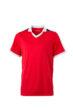 V Neck Team Shirt James & Nicholson - red