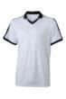 V Neck Team Shirt James & Nicholson - white