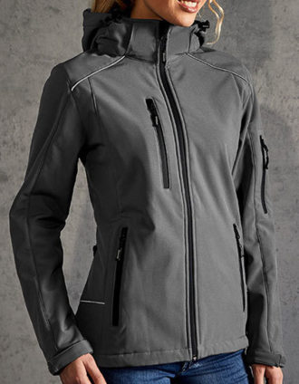 Womens Softshell Jacket Promodoro - steel grey