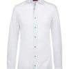 Greiff Premium Hemd Slim Fit - weiß kontrast bleu