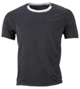 Mens Running T Shirt James & Nicholson - black melange white
