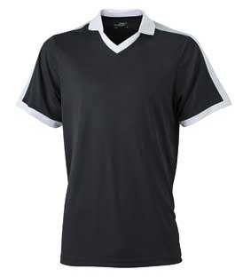 V Neck Team Shirt James & Nicholson - black