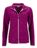 Damen Fleecejacke James & Nicholson - berry melange silver