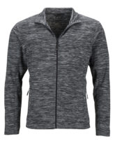 Herren Fleecejacke James & Nicholson - grey melange anthracite