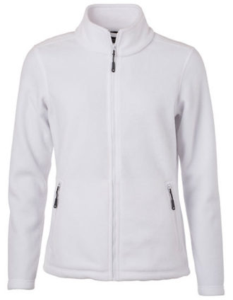 Ladies Fleece Jacket James & Nicholson - white