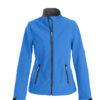 Trial Ladies Softshell Jacket Printer - blau