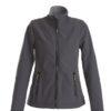 Trial Ladies Softshell Jacket Printer - grau