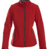 Trial Ladies Softshell Jacket Printer - rot