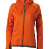 Ladies Hooded Fleece James & Nicholson - dark orange carbon