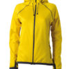 Ladies Hooded Fleece James & Nicholson - yellow carbon