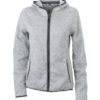Ladies Knitted Fleece Hoody James & Nicholson - light melange carbon