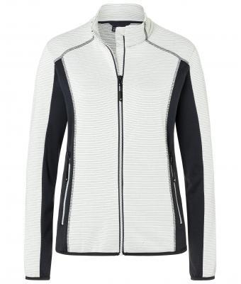 Ladies Structure Fleece Jacket James & Nicholson - offwhite carbon