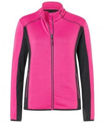 Ladies Structure Fleece Jacket James & Nicholson Mit eigenem Logo