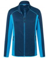Mens Structure Fleece Jacket James & Nicholson - navy bright blue