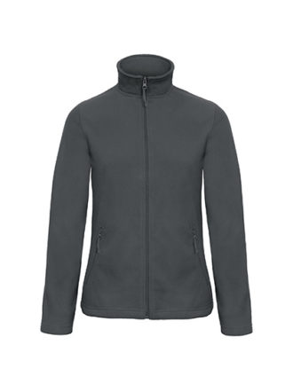 Microfleece Duo Jacket Women B&C - dark grey