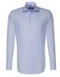 Seidensticker Mens Shirt Modern Fit Check & Stripes Longsleeve - striped light blue white