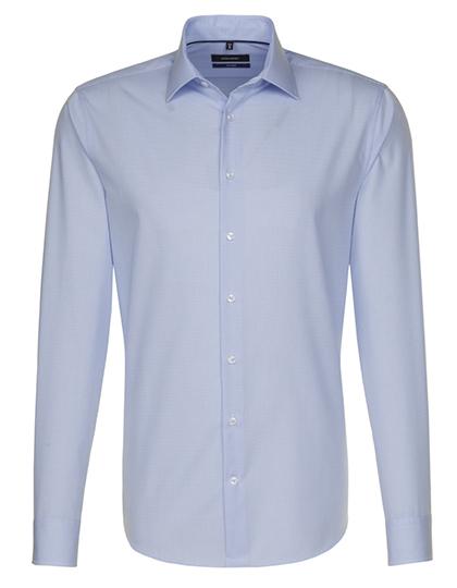 Seidensticker Mens Shirt Tailored Fit Check-Stripes Longsleeve