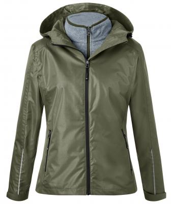 Ladies 3-In-1-Jacket James & Nicholson - olive black