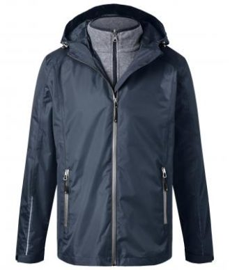 Mens 3-In-1-Jacket James & Nicholson - navy silver