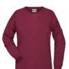 Ladies' Bio Sweat James & Nicholson - burgundy melange