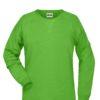 Ladies' Bio Sweat James & Nicholson - lime green