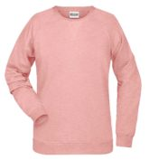 Ladies' Bio Sweat James & Nicholson - rose melange