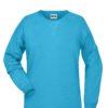Ladies' Bio Sweat James & Nicholson - turquoise