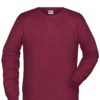 Men's Bio Sweat James & Nicholson - burgundy melange