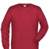 Men's Bio Sweat James & Nicholson - carmine red melange