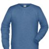 Men's Bio Sweat James & Nicholson - light denim melange