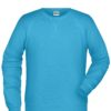 Men's Bio Sweat James & Nicholson - turquoise