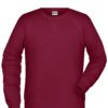 Men's Bio Sweat James & Nicholson - wine