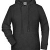 Ladies' Bio Hoody James & Nicholson - black heather